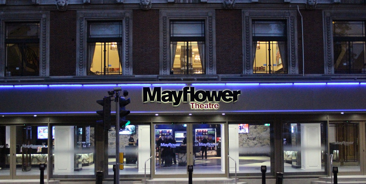 Mayflower Exterior Night 1200x600